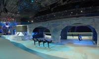 Монтаж декораций для церемонии открытия Зимней универсиады-2019
