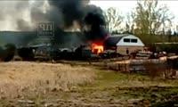 Пожар в Ирбейском