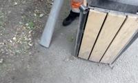 Уличный пылесос, который изобрели сотрудники красноярского Специализированного автотранспортного предприятия