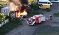 В Советском районе Красноярска сгорел Делимобиль