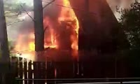 Дачи горят в Колягино под Красноярском