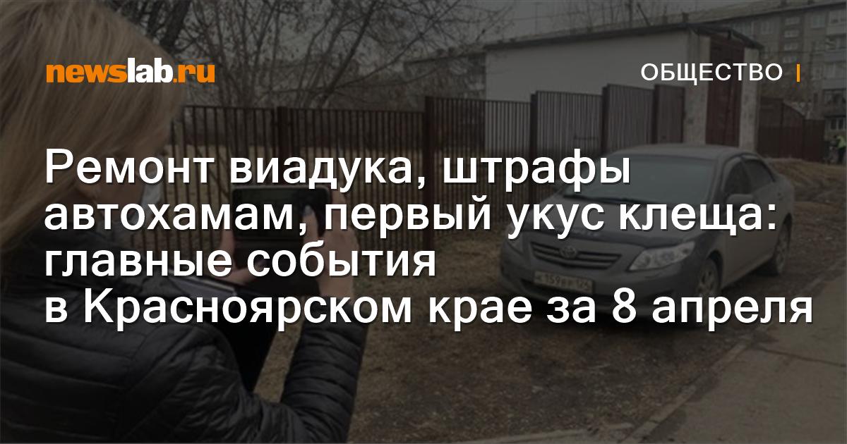 Ремонт виадука, штрафы автохамам, первый укус клеща: главные события вКрасноярском крае за8апреля
