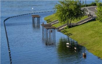 Уровень воды в Енисее за сутки уменьшился на 5,7 см