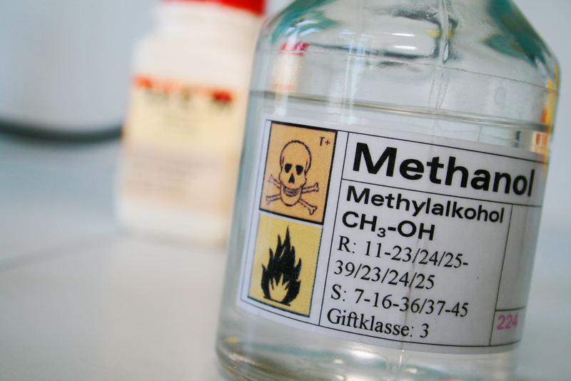 Как определить метиловый спирт в алкоголе