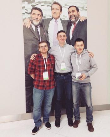 С коллегами в «Сколково»