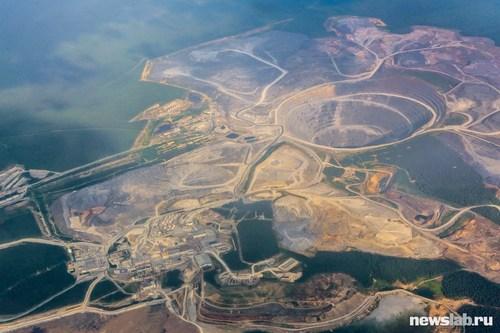 Карьер «Восточный» Олимпиадинского месторождения. Самый крупный в России и один из крупнейших в мире