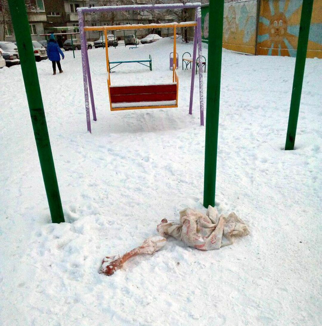 ВКрасноярске дети обнаружили наплощадке мешок скостями