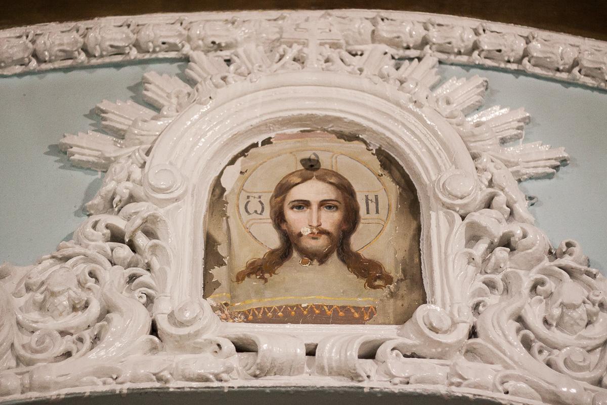 ВКрасноярске обнаружили закрашенную фреску сликом Спаса Нерукотворного