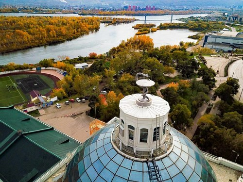 Вид с купола КрасГМУ. Фото: Роман Сотников