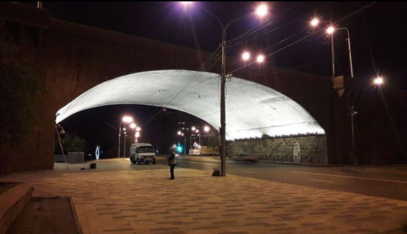ВКрасноярске протестирована новая подсветка Коммунального моста