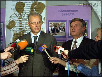 Заместитель министра образования и науки РФ Андрей Свинаренко и заместитель губернатора Владимир Шишмарёв
