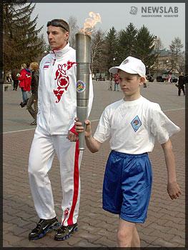 Эстафета Олимпийского огня V городских детских Олимпийских игр
