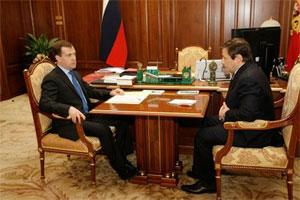 Встреча Медведева и Хлопонина