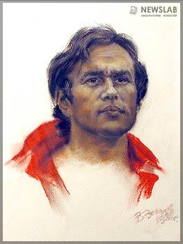 Портрет Романа Солнцева (1981 г.), художник Владимир Зеленов