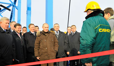 Путин открыл четвертый мост через Енисей
