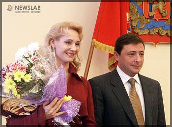 Елена Привалихина и Александр Хлопонин