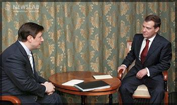 Фото: Александр Хлопонин и Дмитрий Медведев. Личная встреча.