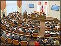 Во время доклада губернатора Красноярского края Александра Хлопонина