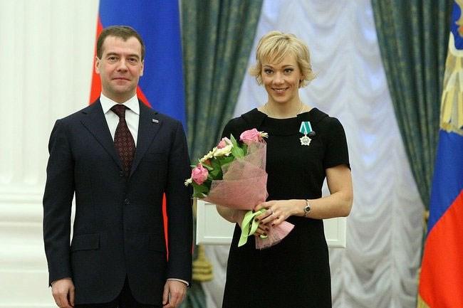 Зайцева Ольга. награждена Орденом Дружбы, Кремль, 2010 год.